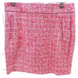 Banana Republic Pink Tweed Mini Skirt